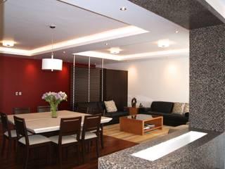 Departamento 2 Vistas, Santa Fe Salones modernos de simon&diseño Moderno