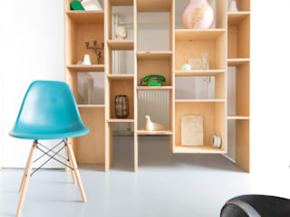 Peggy Franssen Interieurontwerp Study/officeStorage Plywood Wood effect