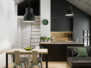 Industrial style dining room by PRØJEKTYW | Architektura Wnętrz & Design Industrial