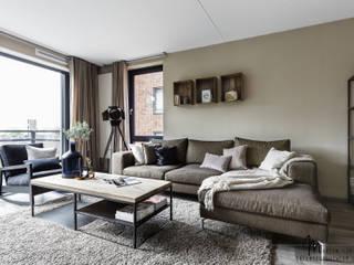Projekty,  Salon zaprojektowane przez Marion van Vliet Interieurontwerp