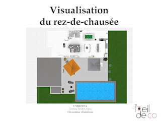 Aménagement du rez-de-chaussée d'une maison contemporaine: Cuisine de style  par L'Oeil DeCo