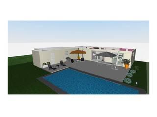 Aménagement du rez-de-chaussée d'une maison contemporaine: Maisons de style  par L'Oeil DeCo