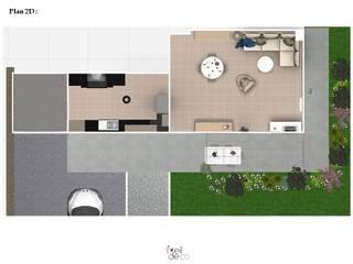 Réaménagement d'un salon/salle à manger: Maisons de style  par L'Oeil DeCo