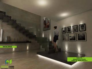 Lobby: Pasillos y recibidores de estilo  por Proyecto Ciudad. Taller de Urbanismo y Arquitectura.