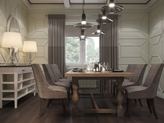Country style dining room by Elena Potemkina Country