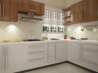 Modular Kitchen:   by MOONA DESIGN STUDIO