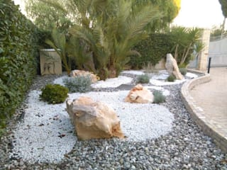 Jardines rústicos de landscapeABC studio garden design Rústico Piedra