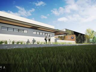 BMW - Centro Social e Recreativo Locais de eventos industriais por Szoma Arquitetura Industrial