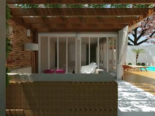 rustic Garage/shed by Cíntia Schirmer | Estúdio de Arquitetura e Urbanismo
