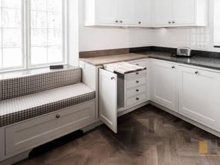 kuchnia biała: styl , w kategorii  zaprojektowany przez PPHU BOBSTYL