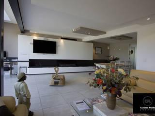 Rénovation d'une maison de pavilloneur : Salon de style  par Agence PULIDO