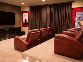 Range of interiors :  Media room by Lux Design Associates