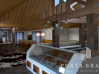 SteakHouse Espaços de restauração industriais por Porta Branca Industrial