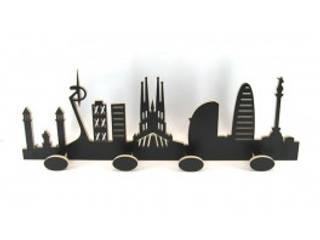 Perchero skyline:  de estilo  por artesania de madera