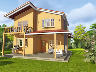 gechamul Rustic style house Wood