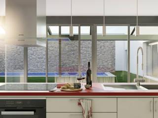 Cocina: Cocinas de estilo moderno de A3D INFOGRAFIA
