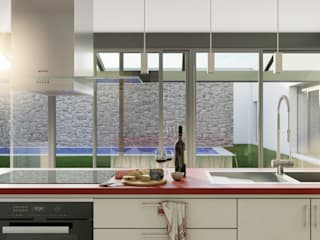 Infografías 3D de vivienda en Ciudad Real Cocinas de estilo moderno de A3D INFOGRAFIA Moderno