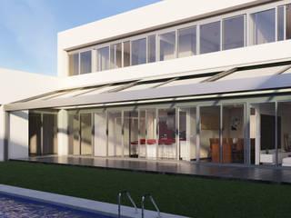Fachada interior: Casas de estilo moderno de A3D INFOGRAFIA