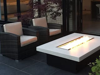 Vienna 160 Gas Fire Table - Dune de Rivelin Moderno