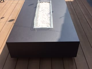 Lisbon 180 Gas Fire Table - LEDs de Rivelin Moderno