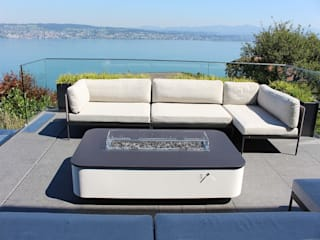 Dubai Gas Fire Table - Lake Zurich de Rivelin Moderno