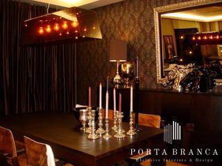 Sala Jantar, Country House Salas de jantar modernas por Porta Branca Moderno