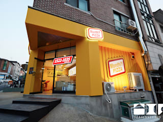 Monthly Pizza 야탑 : DESIGNSTUDIO LIM_디자인스튜디오 림의  베란다