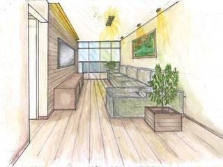 Reforma de Apartamento no Jardim Marajoara: Casas  por Cambury Urbanismo e Arquitetura