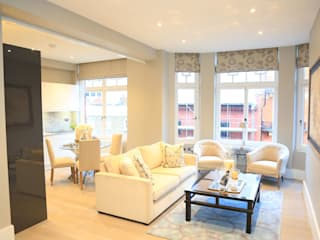 Full house renovation in Marylebone, London W1U Modern Living Room by APT Renovation Ltd Modern
