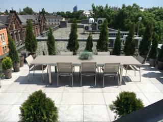 Tavolo allungabile da giardino in acciaio inox Patch by Talenti:  in stile  di Viadurini