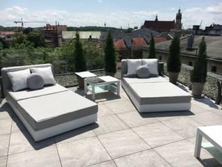 Poltrona da giardino moderna con struttura in alluminio Tender:  in stile  di Viadurini