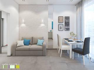 Living room by Мастерская интерьера Юлии Шевелевой, Minimalist