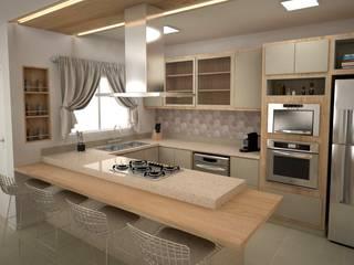 Cozinha Integrada - Projeto de Interiores Cozinhas modernas por FZ Arquitetura e Interiores Moderno