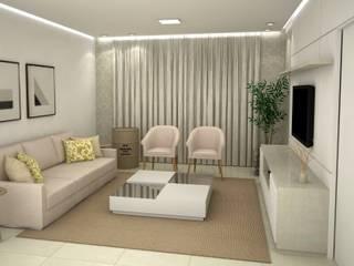 Sala de Estar - Projeto de Interiores Salas de estar modernas por FZ Arquitetura e Interiores Moderno