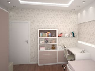 Quarto da Menina - Projeto de Interiores Quarto infantil moderno por FZ Arquitetura e Interiores Moderno