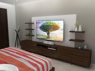 CENTRO ENTRETEMIENTO RECAMARA PRINCIPAL Dormitorios modernos de homify Moderno Madera Acabado en madera