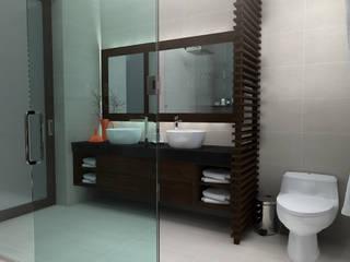 LAVABO BAÑO PRINCIPAL: Baños de estilo  por Residenza by Diego Bibbiani
