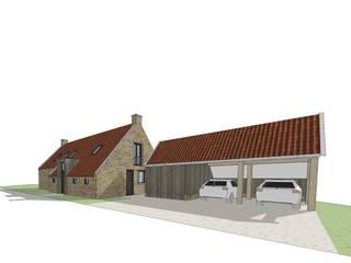 Straatzijde, woning met kapschuur: landelijke Huizen door Bram Markerink Bouwkunst