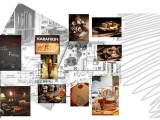 Edda İstanbul Proje Mimarlık – Karafırın:  tarz Yeme & İçme