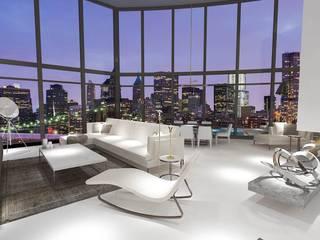Edda İstanbul Proje Mimarlık – F residence İstanbul:  tarz Oturma Odası