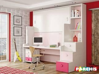 HABITACIONES PARA ESPACIOS REDUCIDOS CON CAMA ESCRITORIO EN ALBOLOTE de Muebles Parchis. Dormitorios Juveniles. Moderno