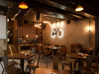 S Cafe Rustic Design Rustic style gastronomy by Praxis Design & Building Solutions Pvt Ltd Rustic