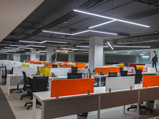 Snapdeal Commercial Space Project Modern offices & stores by Praxis Design & Building Solutions Pvt Ltd Modern