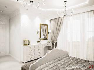 Romantyczna sypialnia Klasyczna sypialnia od Atelier Słowiński Klasyczny