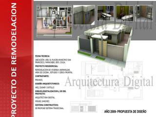 REMODELACION DE VIVIENDA UNIFAMILIAR: Casas de estilo moderno por ARQUITECTURA DIGITAL