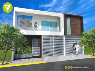 AMPLIACIÓN, REMODELACIÓN Y DISEÑO DE INTERIORES DE CASA HABITACIÓN Casas modernas de Vertical Creativo Arquitectos Moderno