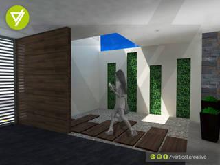 AMPLIACIÓN, REMODELACIÓN Y DISEÑO DE INTERIORES DE CASA HABITACIÓN Pasillos, vestíbulos y escaleras modernos de Vertical Creativo Arquitectos Moderno