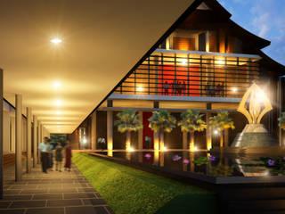 อาคารพุทธาสธรรมโฆษณ์  มหาวิทยาลัยราชภัฏสุราษฎร์ธานี:   by PM DESIGN co.,ltd
