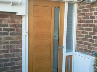 Modena external door in oak with glass Wonkee Donkee XL Joinery Fenêtres & PortesPortes