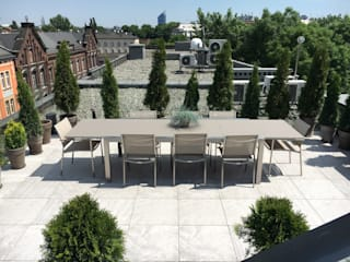 Modern design outdoor stainless steel extendable table Patch:   by Viadurini.co.uk